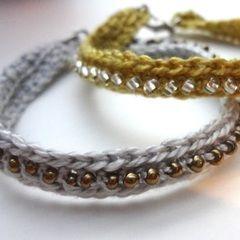 Crochet Seed Bead Bracelet