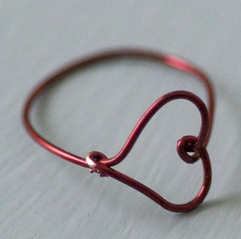 Wire Heart Finger Ring Diy 183 How To Make A Ring 183 Wirework