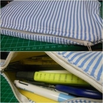 A School Essential :D .  Make a pencil cases in under 60 minutes by constructing, needleworking, needlepointing, sewing, dressmaking, and paper folding with fabric, sewing machine, and zipper. Inspired by clothes & accessories. Creation posted by Anjellee. Difficulty: Simple. Cost: Cheap.
