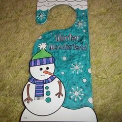 Winter Wonderland Door Hanger