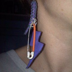 Fimo Lightning Bolt Earrings