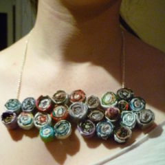 Recycled Magazine Necklace