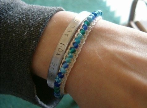 Beeeeeads .  Make a braided bracelet in under 60 minutes by jewelrymaking with beads, lobster clasp, and crochet thread. Creation posted by Emily W. Difficulty: Easy. Cost: Cheap.
