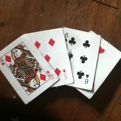 Playing Cards Brooch.