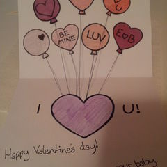 Balloons Valentine's Card