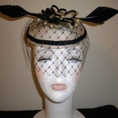 Fascinator   Black Arrow Feathers