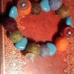 Winter Boiled Wool Bracelet