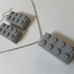 Lego Earrings & Necklace
