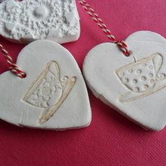 Clay Hearts