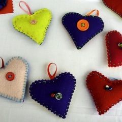 Lavender And Flax Seed Heart