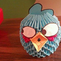 Blue Angry Bird Paper Craft