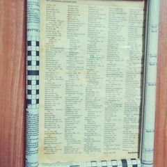 Old Newspaper Rolled Frame