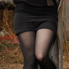 Old Shirt To Tight Skirt