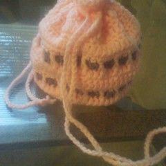 Drawn String Crochet Bag