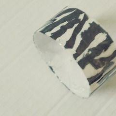 Zebra Print Paper Bracelet