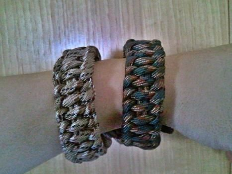.  Make a braided bracelet in under 20 minutes by jewelrymaking and weaving with paracord. Inspired by clothes & accessories. Creation posted by Carol S. Difficulty: Easy. Cost: Absolutley free.