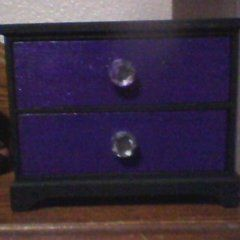 Black And Purple Jewerly Box