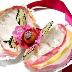 Coffee Filter Wrist Corsage