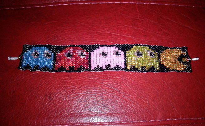 Pacman Bead Loom Bracelet