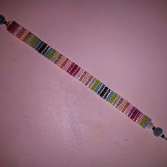 Miyuki Bead Loomed Bracelet   Spring Love