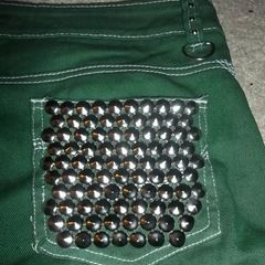 Studded Green Shorts.