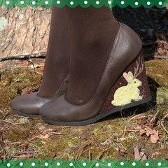 Flocked Jackalope Shoes