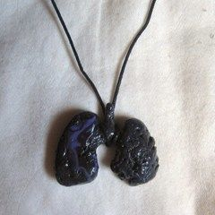 Black Lungs Necklace