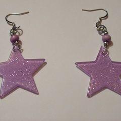 Glam Rock Glitter Star Earrings