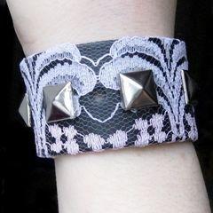 Studded Lace Bracelet