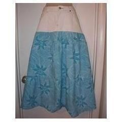 Half & Half Denim Maxi Skirt