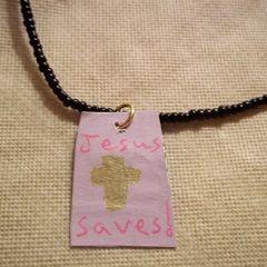 Jesus Saves Necklace