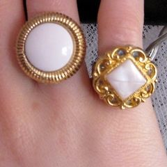 Statement Button Ring