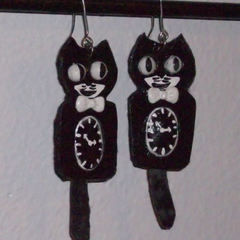 Kit Kat Clock Earrings