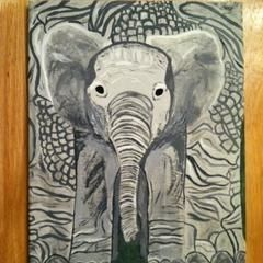 Baby Elephant Painting!