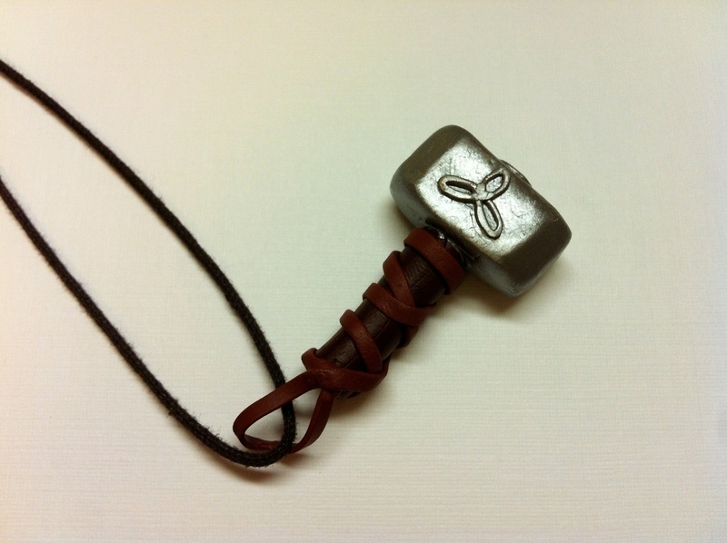 thor s mighty mjolnir necklace 183 a clay character necklace