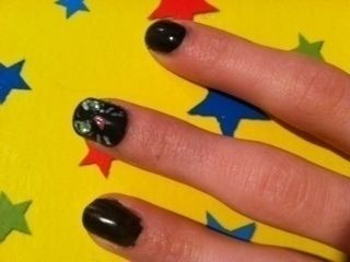 Cute cat nail art that will make you smile all of the time :) .  Free tutorial with pictures on how to paint an animal nail in under 20 minutes by nail painting and decorating with nail polish, nail polish, and nail polish. Inspired by cats, creatures, and costumes & cosplay. How To posted by __Mel__. Difficulty: Simple. Cost: Cheap. Steps: 5