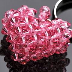 Crystal Heart Motif Ring