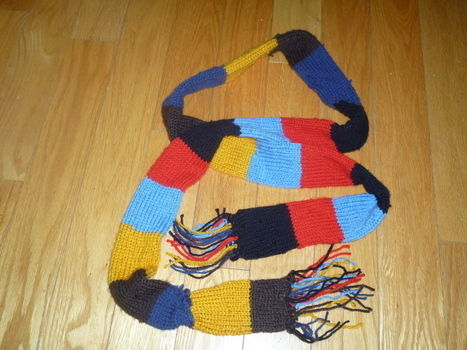 May the odds be ever in your favor with this scarf .  Knit Or Crochet a stripy scarf in under 180 minutes by yarncrafting and knitting with scissors, yarn, and knitting needles. Inspired by clothes & accessories. Creation posted by Emilia L. Difficulty: 3/5. Cost: 3/5.