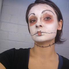 Tim Burton Style Makeup