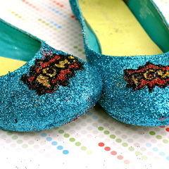 Glitter Comic Book Shoes