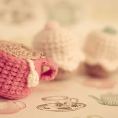 Crochet Tea & Cupcake Keyrings