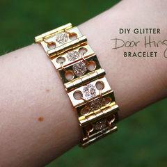 Diy Glitter Door Hinge Bracelet