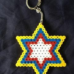 Hama Bead Star Keychains