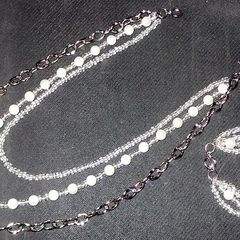 Pearl Tiered Jewelry Set
