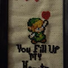 """Link:""""You Fill Up My Hearts"""" Cross Stitch"""