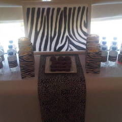 Zebra Birthday Party Table