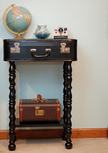 Vintage Suitcase Table · How To Make A Suitcase Table · Construction ...