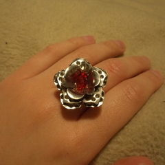 Wire Wrap Rose Ring