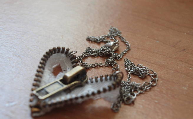 Zipper Heart Necklace