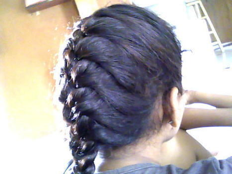 Or whatever it's called.... .  Style a French braid in under 20 minutes by hairstyling and braiding with elastic band. Creation posted by Anths. Difficulty: Simple. Cost: No cost.